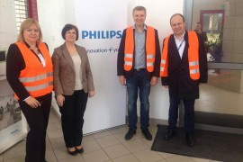 Meeting at Philips factory in Poland